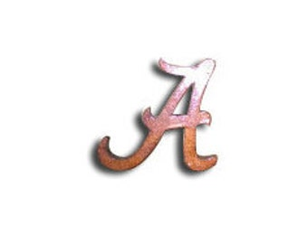 "Wooden Letter ""A"" (Alabama) Roll Tide Roll"
