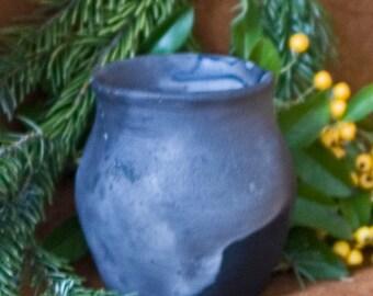 Mug, ceramic, medieval / pit fire / handmade / piece