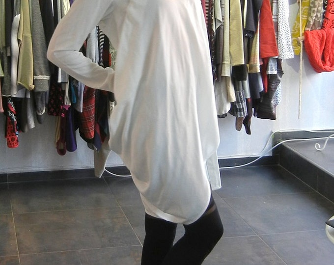 Extravagant Loose Shirt / Sexy White Shirt / Loose Tunic