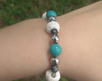 Childrens lava rock bracelet
