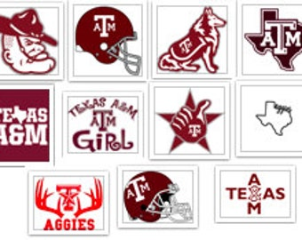 Texas A&M Aggies Football Logo Decal Lot SVG Cut Files Instant Download