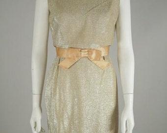 1960s Metallic Mini Dress
