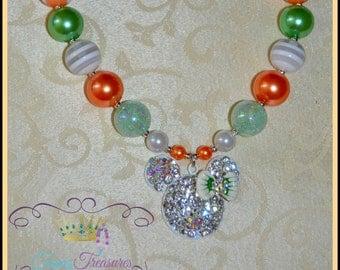 Minnie Peach Mint Children's Chunky Necklace