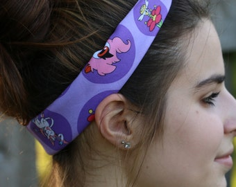 Purple Pokemon Tie-Up Cotton Bandana