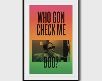 """Sheree Whitfield """"Who Gon Check Me Boo?"""" 11x17 Poster"""