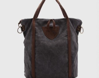 Waxed Canvas Tote Bag / Leather Tote Bag / Handbag / Handbag Women / Shoulder Tote Bag / Shoulder Bag / Beach Bag / Beach Tote / Denim