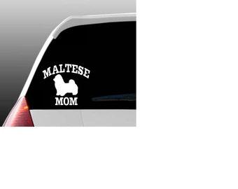 Maltese Mom/Dad/Parents Car Window Decal