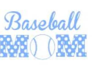 Baseball Mom Decal #2