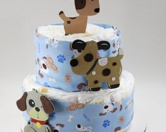 Puppy Dog Diaper Cake
