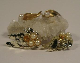 Two pair of vintage earrings