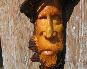 Unique Hand Carved Wooden Faces