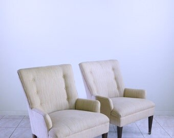 mid century high back FRENCH PROVINCIAL hollywood regency club CHAIRS