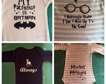 Harry Potter onesies, set of 3