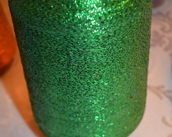 Green Metallic Lurex Glitter Yarn  Cone for Machine Knitting