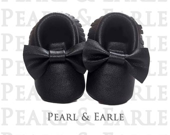 Black Baby Shoes, Baby Shoe, Toddler Shoe, Baby Moccasins, Leather Moccasins, Toddler Moccasins, Baby Shoes, Gold Moccasins, Baby Moccasins