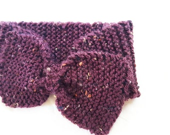 Knit Bow Ear Warmer Headband