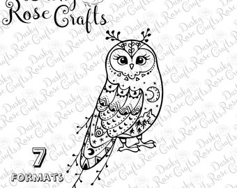 Owl Vector .SVG .EPS .DXF .png .jpg .pdf .studio3 for cutting, crafting, scrapbooking