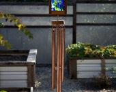 Wind Chime Sea Glass Kaleidoscope Sun Catcher Large Copper Chimes