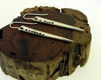 Vampire Fang Earrings, upcycled fork tine earrings by Kathryn Riechert