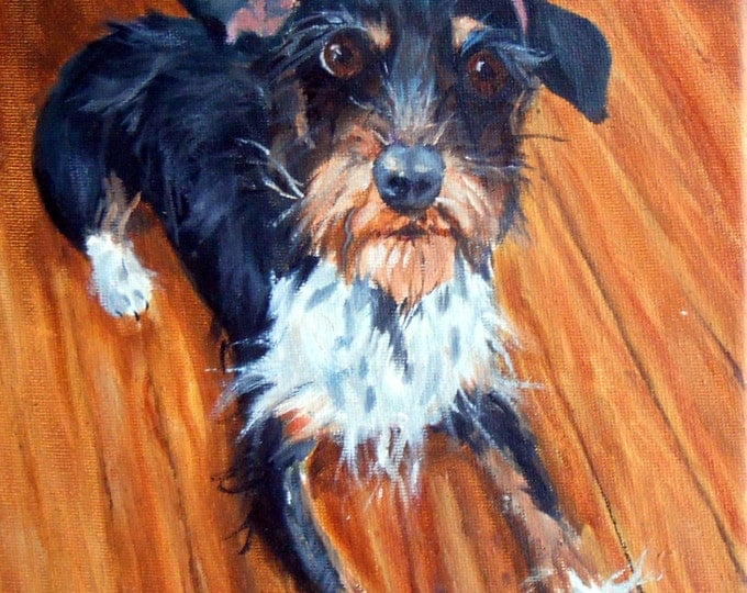 Pet Painting , Custom Dog Portrait, Oil Painting on Canvas