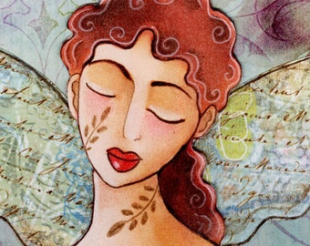 Peaceful Fairy handmade paper doll