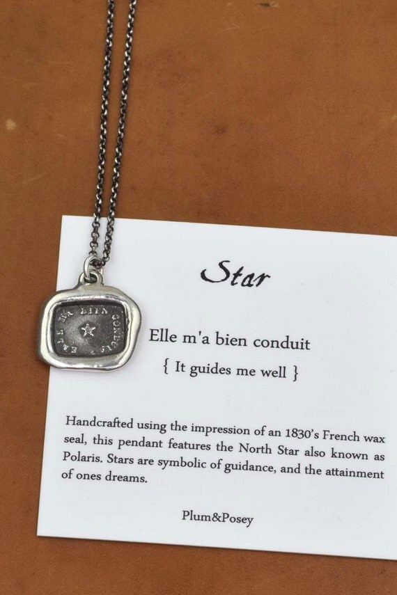 North Star Guiding Star Wax Seal Necklace