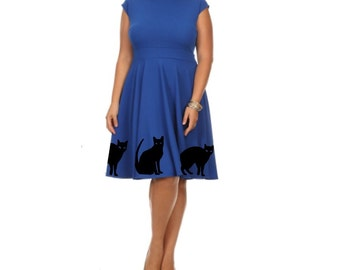 Pin up girl dress plus size