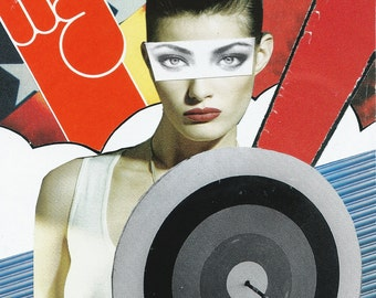 On Target - Original Collage Artwork