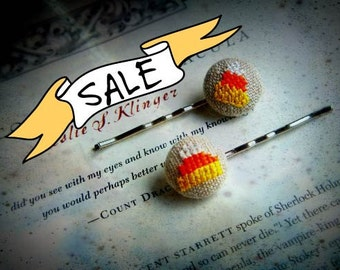 SALE - Candy Corn - Hair Pin Duo