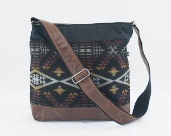 Clearance! Jane Crossbody/Diaper Bag in DIamond River