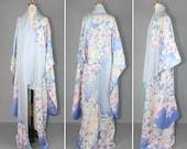 1950s kimono / furisode / silk robe / IN THE CLOUDS vintage kimono