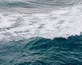 Ocean Photo, Pacific Ocean, San Diego, Waves, Coast, Ripples, Abstract Art, California, Beach, Moody, Storm, Water, Blue, Resort, 8x12 Print