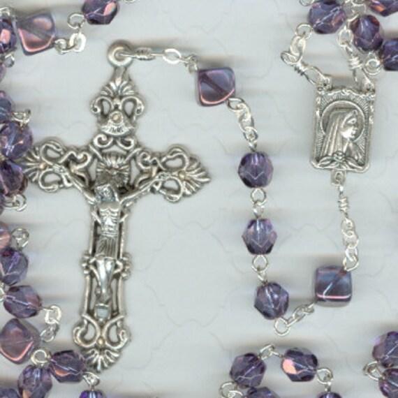 February Birthstone Rosary ~ Amethyst