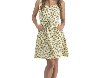 Wrap Dress in Creme Blossom