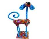 Dog Art, dog decor, home decor , original ornament home design, Dog Figures, Animal sculpture,Metal dog, Modern dog sculpture