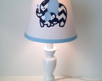 Mother and Baby Elephant Lamp Shade (other colors available)