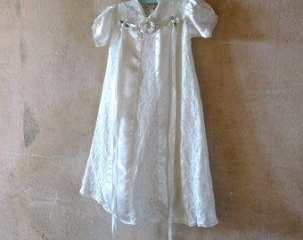 Christening Gown with Bonnet and Slip 3 Months