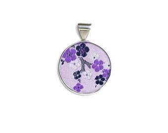 Purple Blossom Silk Pendant by Shi Studio Size Medium Buttress Shape