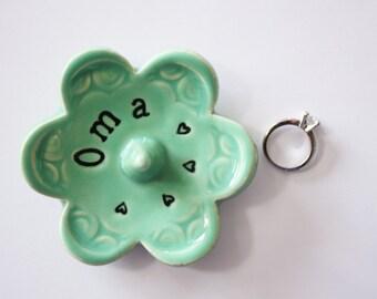 Oma ring dish - Gift for Oma - Keepsake Ring Dish -  Gift box included