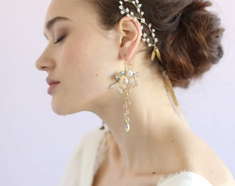 Bridal earrings - Enchanted frosted garden earrings - Style 628 - Made to Order