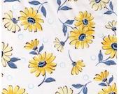 HALF YARD Yuwa - Yellow Blue Daisies and Dots on Ivory WHITE - Suzuko Koseki - Pink Polka Dots and Flowers - Japanese Import Fabric