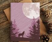 blank card set / wolf moon