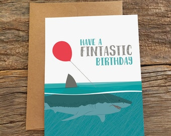 birthday card / shark fin