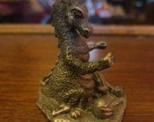 Vintage 1989 Gallo Pewter Dragon Statue Figurine Signed