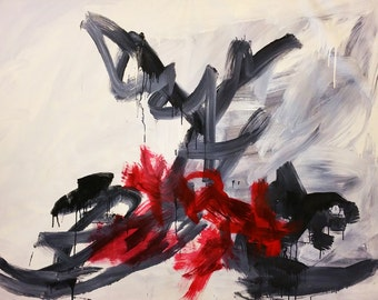 "Tempest 68""X48"" inches Original Abstract Painting"