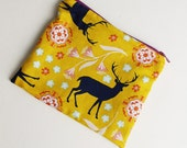 Handmade DEER Coin Purse, Yellow Deer Purse, Deer Purse, DIY Coin Purse, Deer Bag, Yellow Coin purse
