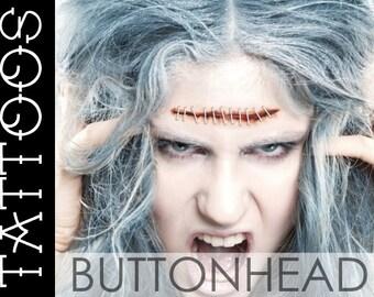 Halloween Costume Accessories - Lobotomy Stitches Fake Wound Temporary Tattoos