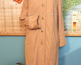 Forecaster of Boston All Weather Tranch Vintage Coat twist lock 15/16 Tan  Union Label