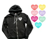 Mama Bear with Heart Zip Up Cardigan Hoodie Sweatshirt - Gift for Mom, New Mom, Expecting, Family Photos, Baby Shower, Announcement