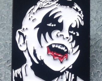 KISS Kid Skull Enamel Pin by Print Mafia®